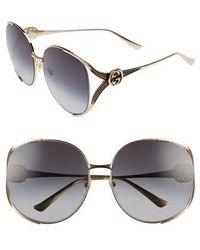 Gucci - 63mm Open Temple Sunglasses - Lyst