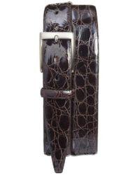 Torino Leather Company - Caiman Alligator Leather Belt - Lyst