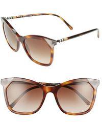 Burberry - Heritage 54mm Square Sunglasses - Light Havana Gradient - Lyst