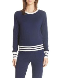 Equipment - Axel Cropped Tennis Sweater - Lyst