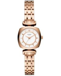 Kate Spade - Barrow Leather Strap Watch - Lyst