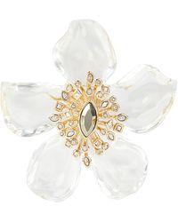 Alexis Bittar Navette Crystal Burst Flower Pin - Multicolour