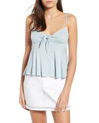 Hiatus - Knot Front Camisole - Lyst