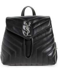 Saint Laurent - Small Loulou Quilted Calfskin Leather Backpack - - Lyst