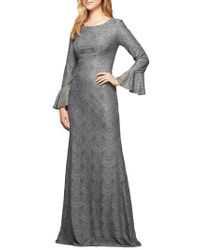 Alex Evenings - Sequined Lace Gown - Lyst