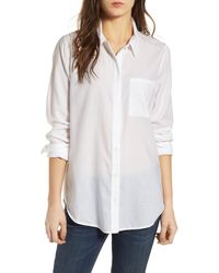 Treasure & Bond Drapey Classic Shirt - White