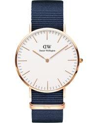 Daniel Wellington Classic Nato Strap Watch - Blue