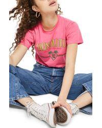 TOPSHOP - Honolulu Motif T-shirt - Lyst
