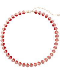 Kate Spade Heritage Spade Heart Collar Necklace - Pink
