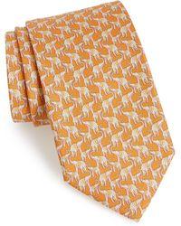Ferragamo - Fumbo Print Silk Tie - Lyst