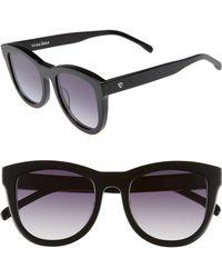 Valley Eyewear - 50mm Trachea Retro Sunglasses - Gloss Black/ Black Gradient - Lyst