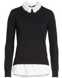 Ted Baker | Floral Collar Sweater | Lyst
