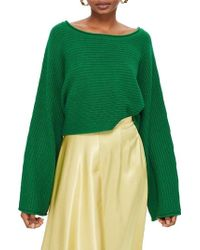 TOPSHOP - Roll Edge Crop Sweater - Lyst