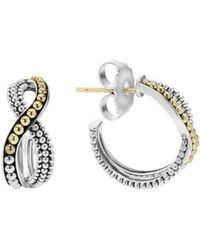 Lagos - Infinity Double Twist Hoop Earrings - Lyst