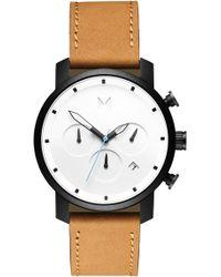 MVMT - Chrono Chronograph Leather Strap Watch - Lyst