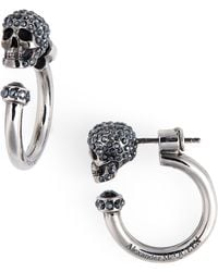Alexander McQueen Skull Huggie Hoop Earrings - Multicolour