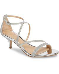 Badgley Mischka - Gal Glitter Kitten Heel Sandal - Lyst