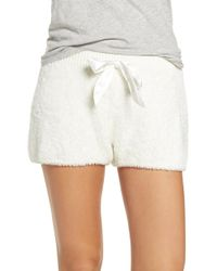 Make + Model Fuzzy Lounge Shorts - White