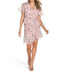 Foxiedox - Lilac Ruched Dress - Lyst