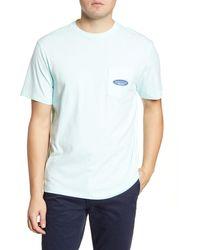 Vineyard Vines Island Herringbone Pocket T-shirt - Blue