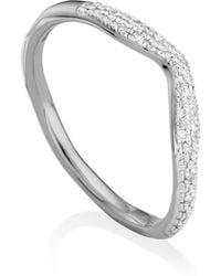 Monica Vinader - Riva Diamond Stacking Ring - Lyst