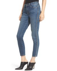 Current/Elliott - The Caballo Dome Stud Detail Stiletto Jeans - Lyst