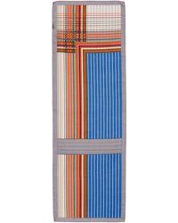Akris Stripe Cashmere & Silk Scarf - Blue