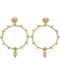 Temple St. Clair - 18k Gold & Diamond Circle Anfora Earrings - Lyst