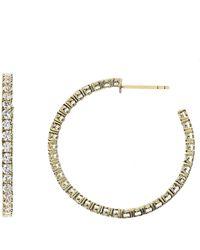 Bony Levy Katharine Inside Out Hoop Earrings (nordstrom Exclusive) - Metallic