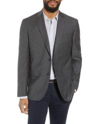 Ted Baker - Jay Trim Fit Heathered Wool & Cotton Sport Coat - Lyst