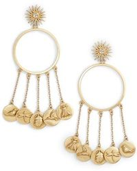 Vince Camuto - Circle Charm Drop Earrings - Lyst
