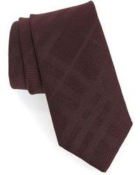 Burberry - Manston Tonal Check Silk Skinny Tie - Lyst