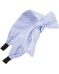 Cara - Pinstripe Bow Headband - Lyst