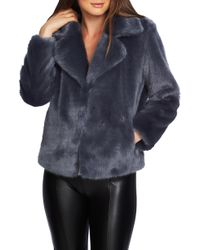 1.STATE - Faux Fur Cropped Jacket - Lyst