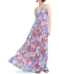 J.Crew - Ratti V-neck Maxi Dress - Lyst