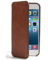 Sena - Iphone 7 Ultra Thin Leather Wallet Case - Lyst