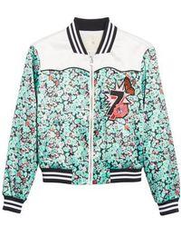 Maje - Bert Floral Bomber Jacket - Lyst