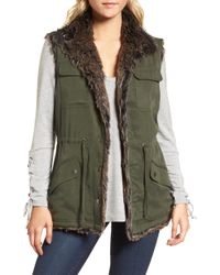 Cupcakes And Cashmere - Ashling Faux Fur Lined Utility Vest - Lyst