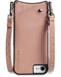 Bandolier - Nicole Pebbled Leather 6/7/8 & 6/7/8 Plus Crossbody Case - Lyst