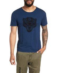 John Varvatos - Embroidered Panther T-shirt - Lyst