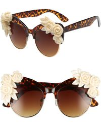 Rad & Refined - Flower Cat Eye Sunglasses - Tort/ Cream - Lyst