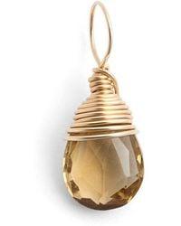 Nashelle 14k-gold Fill & Semiprecious Stone Charm - Blue