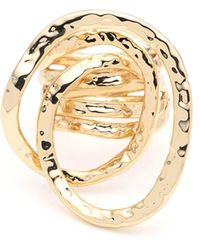 Alexis Bittar - Hammered Coil Link Ring - Lyst