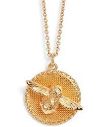 Olivia Burton - Bee Pendant Necklace - Lyst