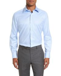 David Donahue - Trim Fit Dress Shirt - Lyst