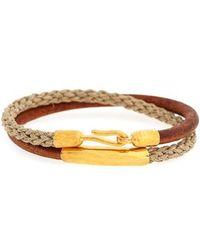 Caputo & Co. Leather & Jute Wrap Bracelet - Multicolor