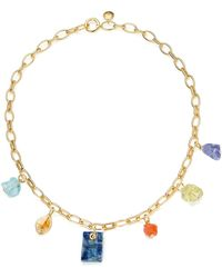 Monica Vinader X Caroline Issa Gold Vermeil Multi-stone Necklace - Metallic