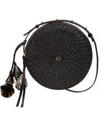 Eric Javits Squishee Bali Crossbody Bag - Coral - Black