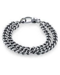 Sheryl Lowe Double Curb Chain Bracelet - Metallic