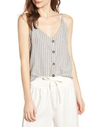 Bishop + Young Button Front Camisole - Gray
